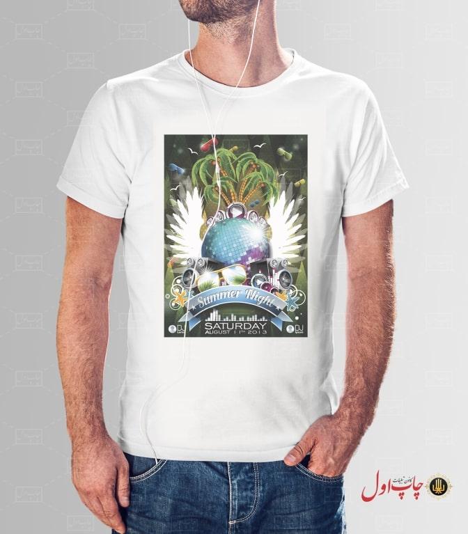 تی شرت طرح موزیک مردانه چاپ اول
