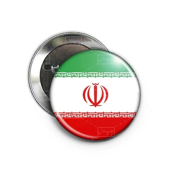 پیکسل سنجاق دار طرح پرچم جمهوری اسلامی ایران
